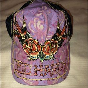 Beautiful Ed Hardy trucker Hat! Sweet Piece!